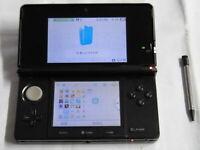 X4622 Nintendo 3DS console Cosmo Black Japan w/stylus pen