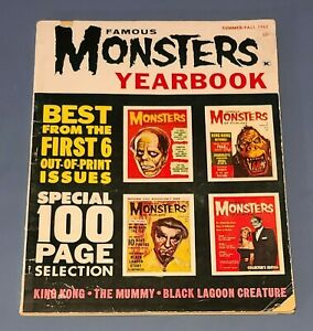 FAMOUS MONSTERS YEARBOOK 1962 Kong Frankenstein Creature From Black Lagoon Mummy
