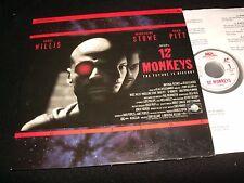 "12 MONKEYS<>BRUCE WILLIS<>2X12"" Laserdiscs<>MCA HOME VIDEO 42785"