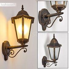 klassische Außen Wand Lampen Garten Hof Veranda Terrasse Beleuchtung braun-gold