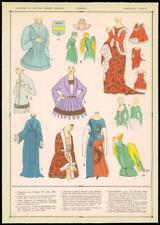 C1920 antica stampa francese Corpetto mazzolini di FIORI moda donna indumento superiore (008)