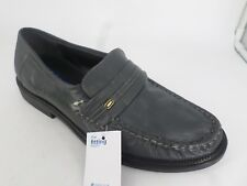 The Fitting Rooms By Chums Leather Moccasin Shoe Grey UK 10 EU 44 LN086 AA 05