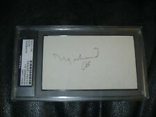 MUHAMMAD ALI AUTOGRAPHED INDEX CARD PSA DNA Certified Encapsulated