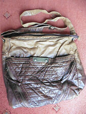 Women's New Look distressed Tan Leather Shoulder Bag