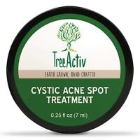 TreeActiv Acne Cystic Spot Treatment Best Extra Strength Fast Acting Formula