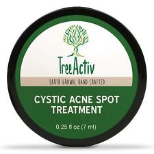 TreeActiv Cystic Acne Spot Treatment Cream Blemish Pimple Scar Spots Removal
