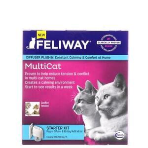 Feliway Starter Multicat Kit Diffuser Plug-In & 30 Day Refill 48mL
