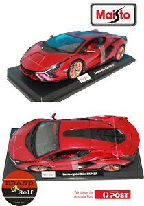 Maisto Lamborghini Sian FKP 37 Red 1:18 RED Diecast Model AU Seller