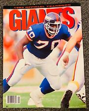 1992 New York Giants Official Yearbook, Leonard Marshall on Cover - Near Mint