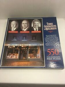 """New~550 Piece JIGSAW PUZZLE By WALGREEN'S """"1993-THREE GENERATIONS OF WALGREEN'S"""""""