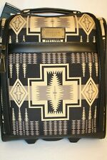 "Pendleton 16"" 2 wheel Rolling Under seat Tote Carry On Luggage Black Tan NWT"