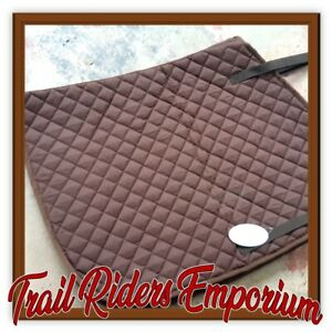 Horse Riding  Saddle Pad FULL SIZE binding new with tags brown cotton
