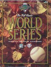 1993 WORLD SERIES PROGRAM (BLUE JAYS vs PHILLIES