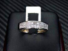 MENS DIAMOND WEDDING RING/BAND 14K YELLOW GOLD PRINCESS CUT INVISIBLE SET 1.1CTS