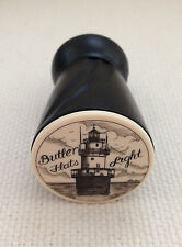 """Wine Vaccum Pump & Stopper with """"Scrimshaw"""" Detail of Butler Flats Lighthouse"""