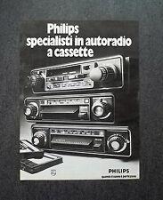 K423- Advertising Pubblicità -1975- PHILIPS AUTORADIO A CASSETTE