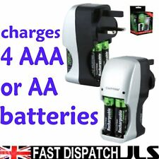 LLOYTRON Charger for 4 AAA or 4 AA  Batteries NiMh NiCd