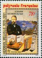 French Polynesia 1992 Sc#602,SG652 78f Herman Melville novelist MNH