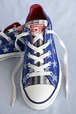 CONVERSE All Star Low top canvas sneakers/shoes Blue stars Size US 3  UK 2.5