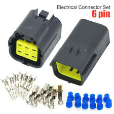 1Set 6 Pin Waterproof Electrical 1.8mm AWG Wire Connector Plug Assembly Parts