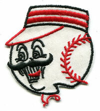 "1960'S ERA CINCINNATI REDS MLB BASEBALL 3.25"" MASCOT TEAM LOGO PATCH"