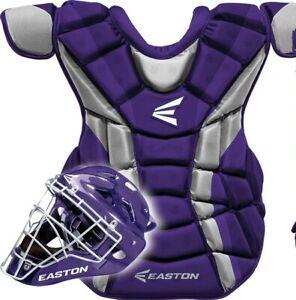 "Easton Force Baseball Catchers Chest Protector Intermediate 15"" Purple/Silver"