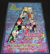 "MARVEL COMICS 1998 AVENGERS #4 PROMO POSTER 11 x 18"" GEORGE PEREZ ARTWORK"