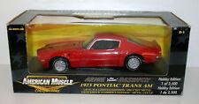 ERTL AMERICAN MUSCLE - 1/18 36682 1973 PONTIAC TRANS-AM ARNIE BESWICK RED