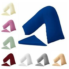 V Shaped Pillow case Percale Polycotton Plain Dyed 100% Poly Cotton Orthopaedic