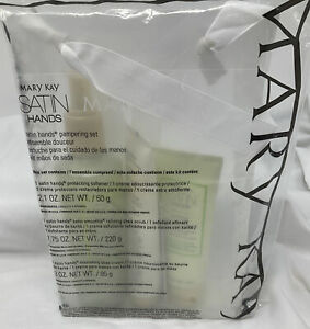 Mary Kay Satin Hands Pampering Set White Tea and Citrus  Full Size 3 PC. Set NEW