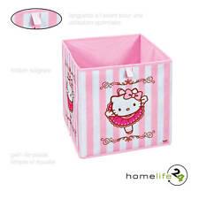 Boîte de rangement carrée cubique avec œillet pour étagère Hello Kitty Baller...