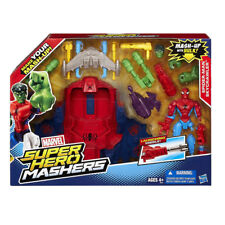Marvel Super Hero Mashers Spider-Man Skycrawler Vehicle Car Mash-Up Hulk Kid Toy