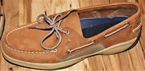 Brand New Sperry Intrepid Top-Sider Men Tan Beige Leather Boat Shoes Sz 9 Loafer