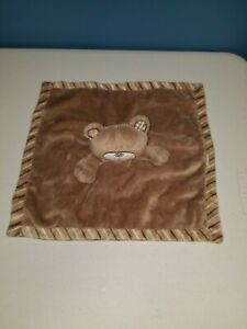 Babies R Us Koala Baby B is for Bear Tan Brown Stripe Blanket Security Lovey T1