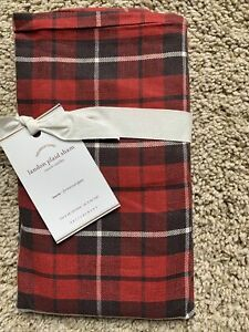 POTTERY BARN Landon Plaid EURO Sham (multiple) Holiday NEW - Red/Black NLA