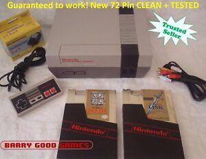 Nintendo NES Console Bundle NEW PINS 2 Game lot ZELDA LINK **ALL ORIGINAL**