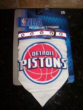 "NEW NBA Basketball Detroit Pistons Pet Collar Bandana Large Dog 18"" - 28"" x 1"""