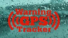 4x  Warning GPS tracker Car Van Wall Window Laptop Bumper vinyl decal stickers