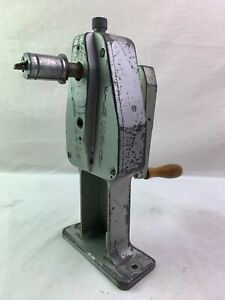 Hollywood Film Co. Vintage Hand Crank Bench Mount Movie Film Reel Winder