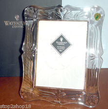 """Waterford Crystal Wedding Picture Frame 5x7"""" Swan/Heart Motif #104839 New In Box"""