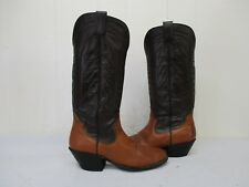 SANDERS Brown Leather Cowboy Boots Womens Size 6 A Style 3022