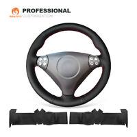 Black Genuine Leather Steering Wheel Cover for Benz SLK-Class W170 W171 SLK C230
