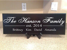 Personalized Plaques - Family Wood Plaque - Custom Name - Family Sign - Decor