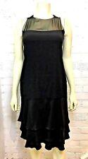 CHANEL BLACK ELEGANT SILK DRESS 40FR 8US