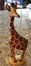 Adorable hand-carved wooden giraffe