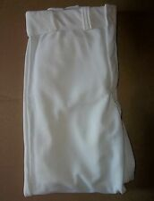 Lot Of 8 Baseball Pants, Adult Extra Large, White, Fab-Knit, Buttons, Zipper