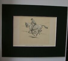 Dog Horse Print Cecil Aldin Use Legs As Croquet Hoops 1928 Bookplate 8x10 Matted