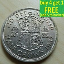 More details for george vi half-crown silver/ cupro-nickel coins choose your date 1937-1951 ...