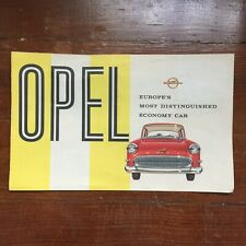 1957-58 Opel Automobile Dealers Promotional Brochure Olympia Rekord & Caravan
