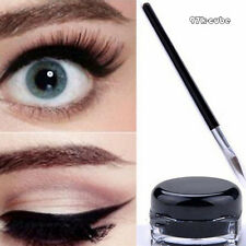 Fashionable Waterproof Eyeliner Gel Makeup Cosmetic+Brush Set Birthday Gift CUB